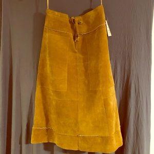 Wilson's suede patchwork midcalf skirt.